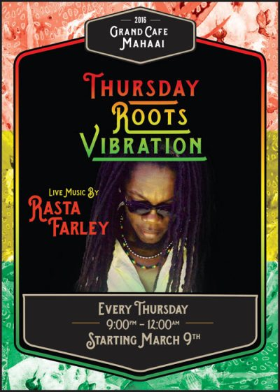 Thursday Roots Vibration at Grand Cafe Mahaai Curacao
