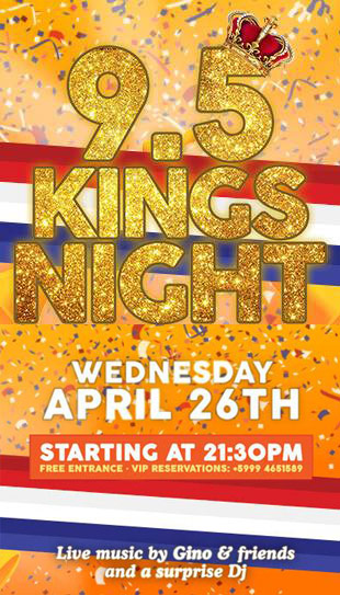9.5 King's Night at Cabana Beach Curacao