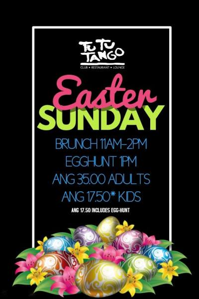 Easter Brunch and Egg Hunt at TuTu Tango Curacao