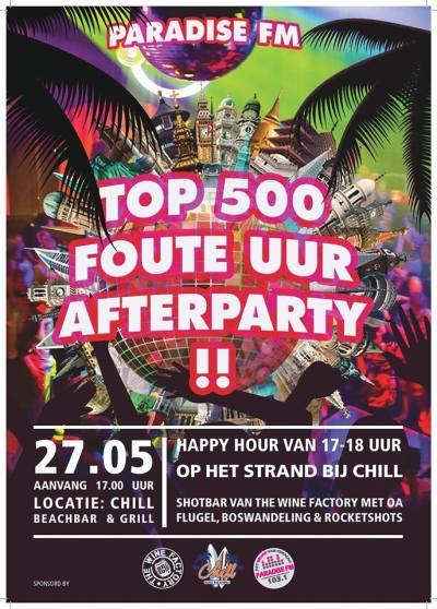 Foute Top 500 Afterparty at Chill Curacao