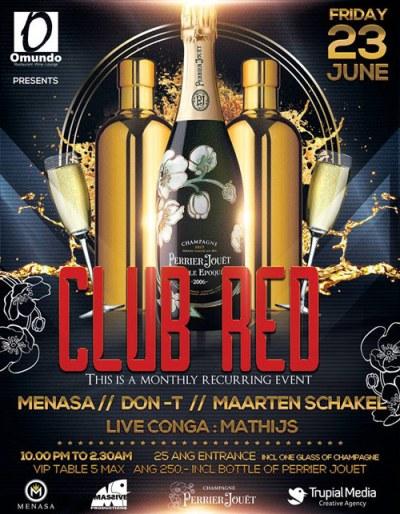 Club Red at Omundo Curacao