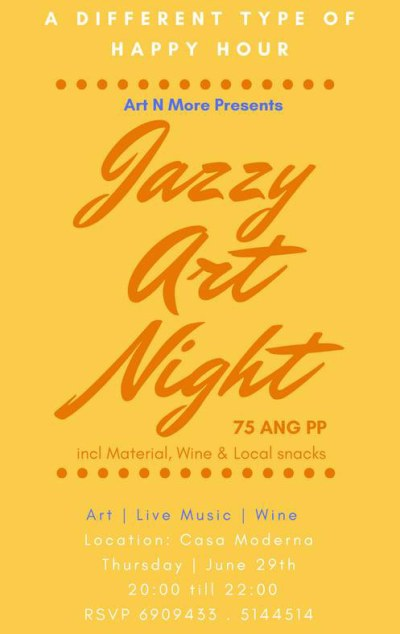 Jazzy art at Casa Moderna Curacao