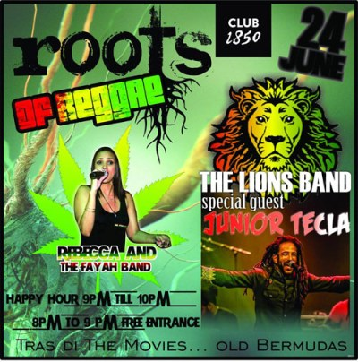 Roots of Reggae at Club 1850 Curacao