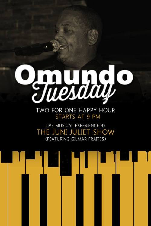 Omundo Tuesdays happy hour at Omundo Curacao