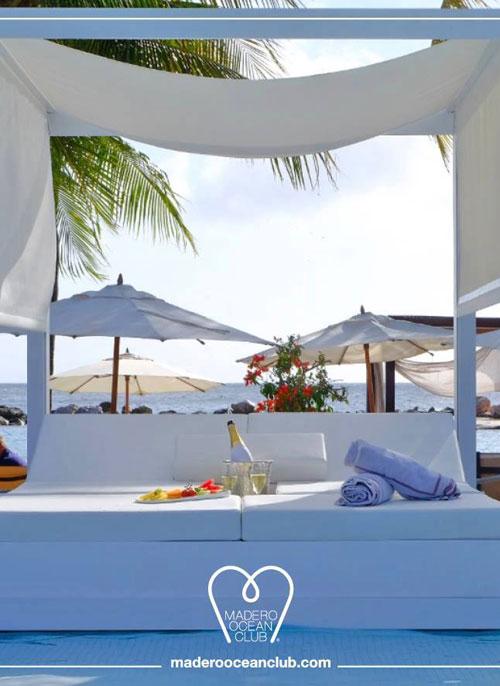 DJ at the Pool at Madero Ocean Club Curacao