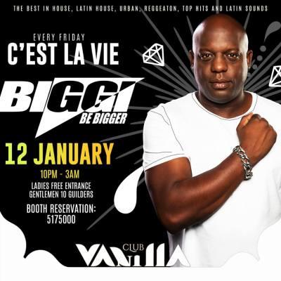 C Est La CVie with Biggi at Club Vanilla Curacao