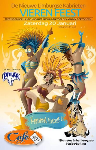 Limburgse Kabrieten Carnival party at Cafe 40b Curacao