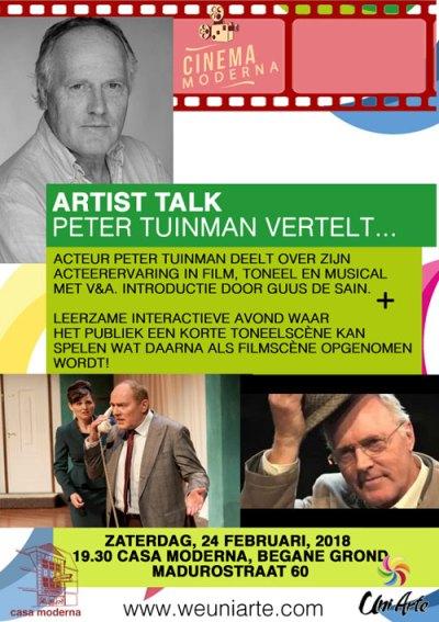 Artist Talk with Peter Tuinman at Casa Moderna, Punda, Curacao