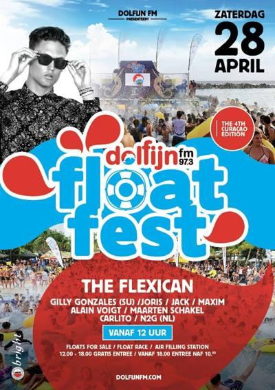Float Fest 2018 Dolfijn FM at Mambo beach Curacao