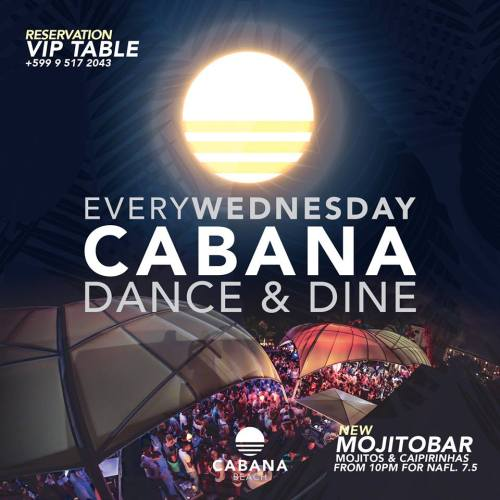 Dance and Dine at Cabana Beach Curacao
