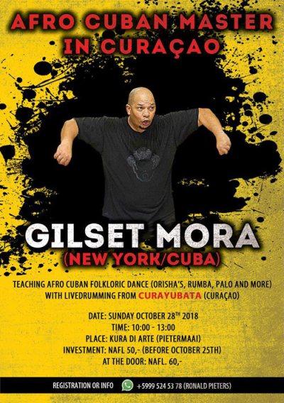 Afro Cuban Dance Class with Gilset Mora at Kura di Arte Curacao