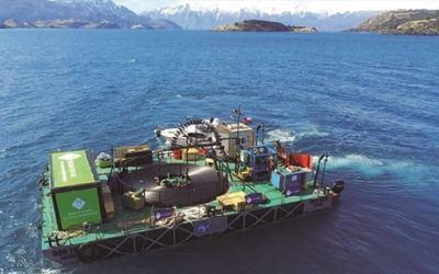 Finaliza con éxito tendido subacuático de Fibra Óptica Austral en el Lago General Carrera