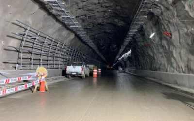 Ruta 5 Norte en Nogales: Obras de construcción del segundo túnel El Melón alcanzan un 85% de avance