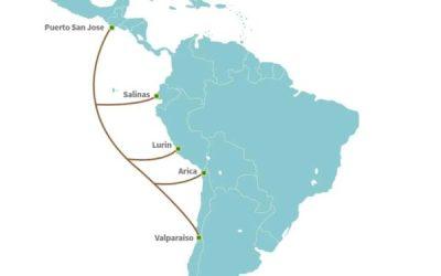 MISTRAL: El nuevo cable submarino que unirá Chile, Perú, Ecuador y Guatemala.