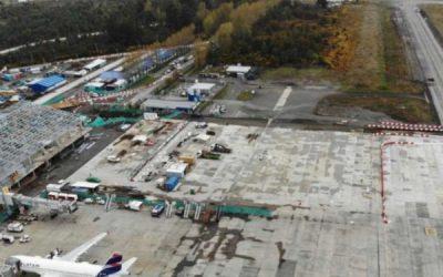 Aeropuerto El Tepual registra un 74% de avance en obras de ampliación y reposición