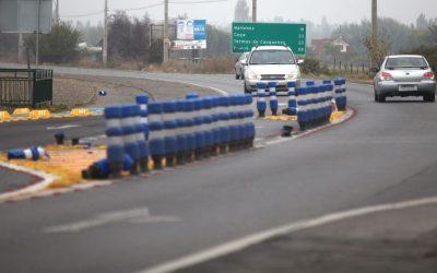 Comenzarona ejecutarse las obras de ampliaciónde la doble vía carretera El Cobre en Rancagua