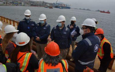Ministros del Segundo Tribunal Ambiental realizaron inspección en terrenos donde se emplazará proyecto Terminal Cerros Valparaíso, TCVAL