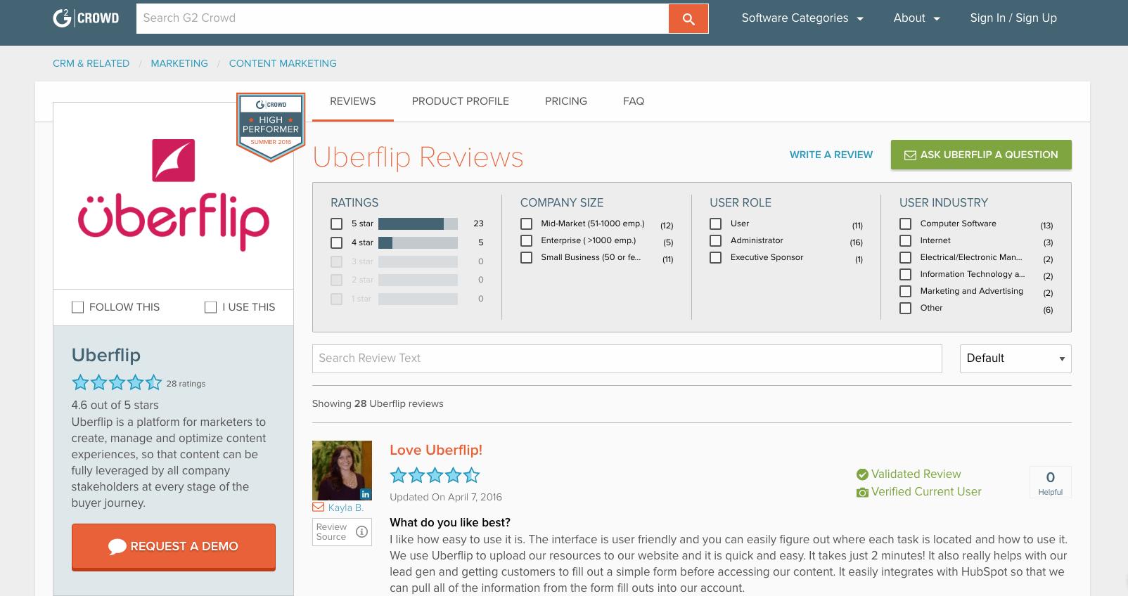 content marketing tools: Uberflip