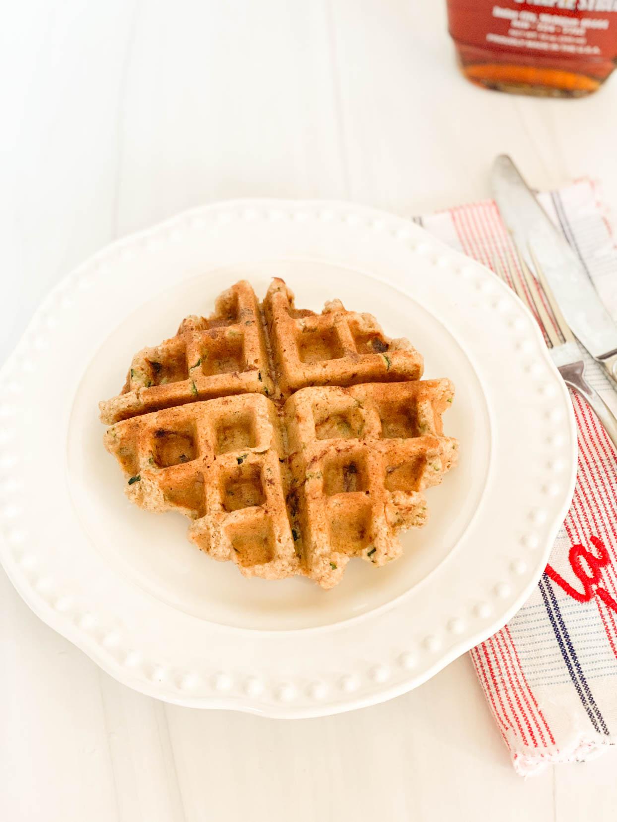 Almond Flour Zucchini Bread Waffles