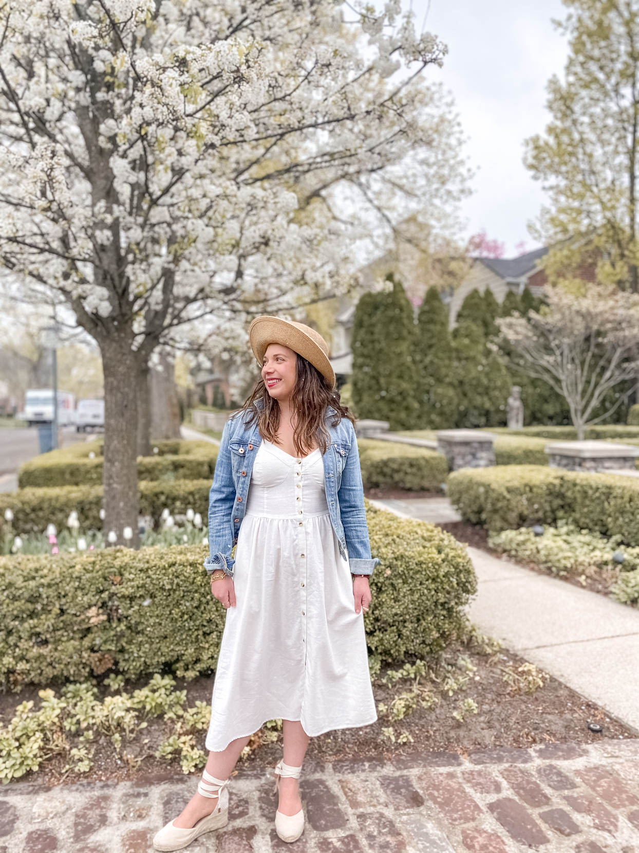 Linen Dress and Denim Jacket