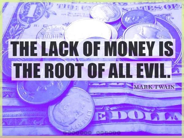 The Lack Of Money Mark Twain