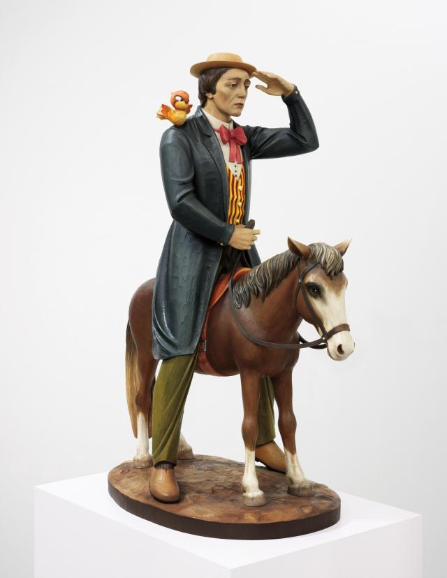 Jeff Koons Buster Keaton,  1988 polychromed wood 66 x 48 x 27 in.