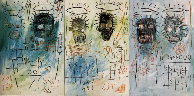 Jean-Michel Basquiat  Six Crimee acrylic, crayon, masonite 178 x 366 cm The Museum of Contemporary Arts, Los Angeles