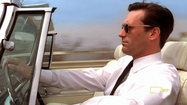 Don Draper driving