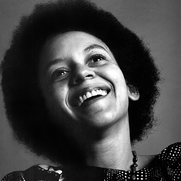 Portrait of American poet Nikki Giovanni, New York, New York, February 1970. (Photo by Jack Robinson/Hulton Archive/Getty Images)