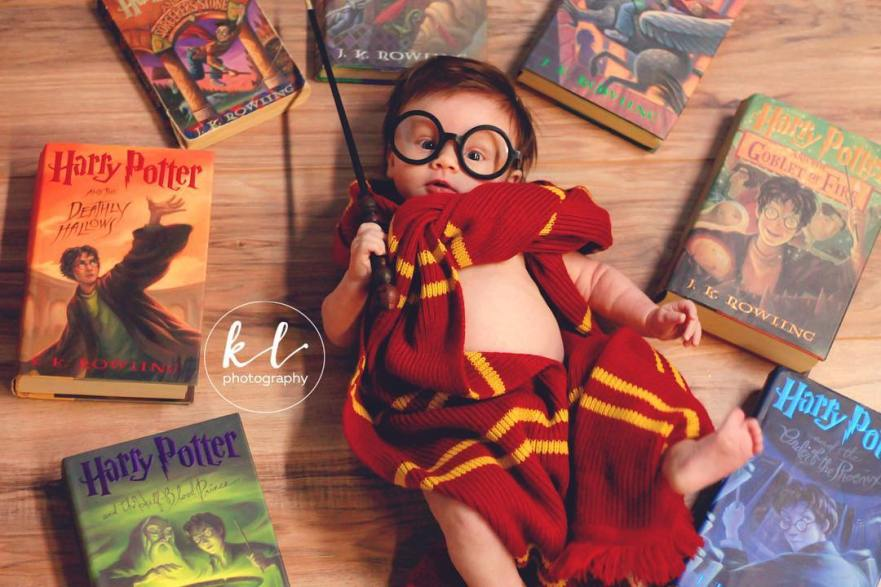 curators of quirk, reilly rebello, melissande rebello, kayla glover, baby themed photography, baby photography, child photography, harry potter theme photography
