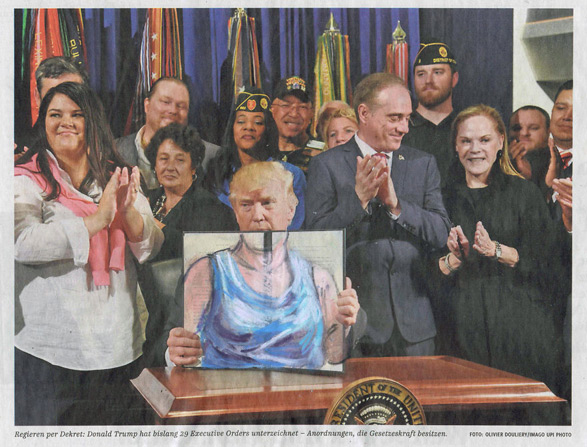 donald trump cartoons, dress like a woman, white house girls, jet nijkamp, curators of quirk, reilly rebello, melissande rebello, barak obama, president of the united states of america, impeachment, oval office