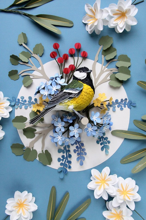 paper art, nature photography