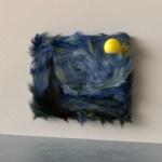 vincent van gogh, starry night, 3d art