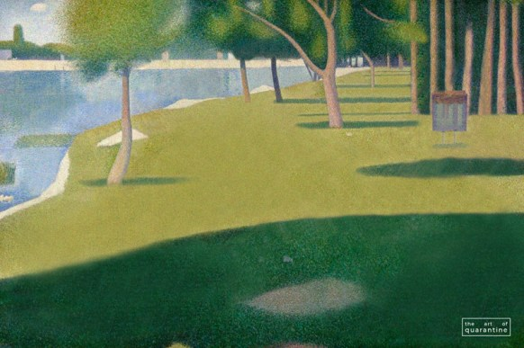 sunday at the park, george seurat, famous paintings, world famous artists, the art of quarantine