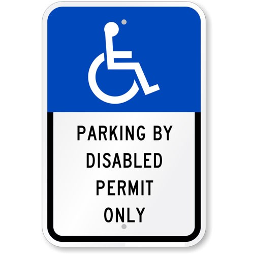 florida handicap parking sign