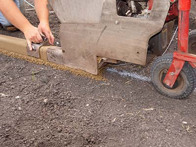 continuous concrete edging process