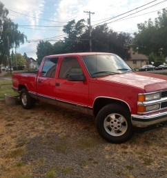97 chevy 1500 centurion silverado 4 full size doors short bed with manual but 4 4 on the floor it s fire engine red with tan interior andeather seats  [ 4000 x 3000 Pixel ]