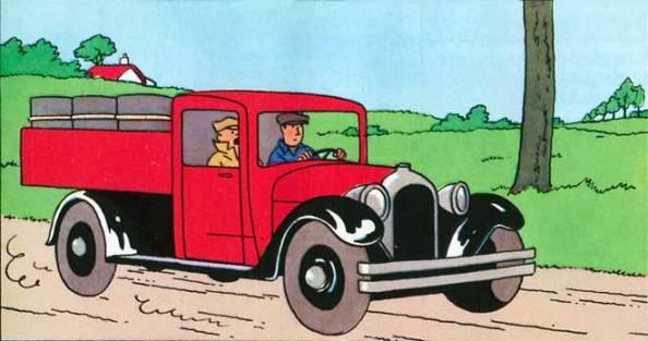 Tintin 1930 truck