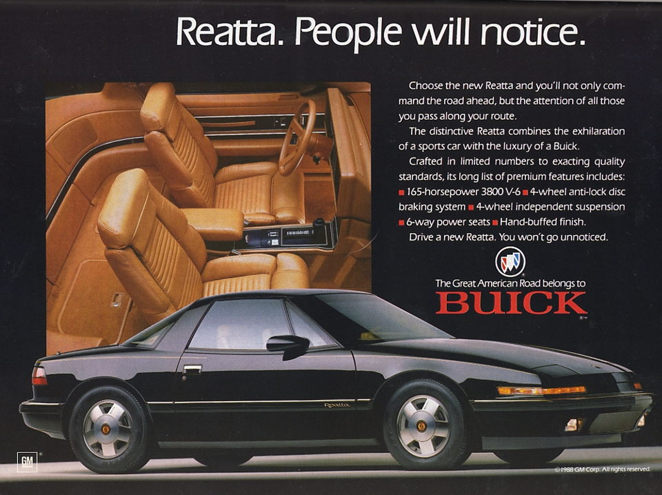 curbside classic 1989 buick reatta a pudding with no theme rh curbsideclassic com