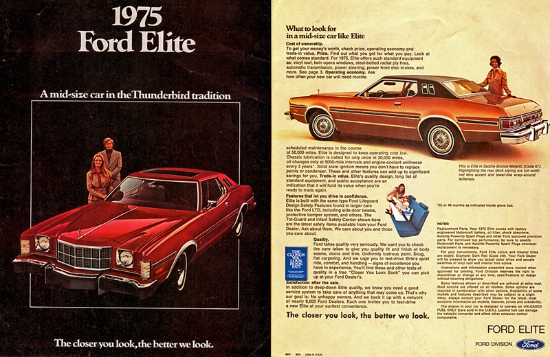 curbside classic 1976 ford elite a highfalutin hash 77 Ford Elite the pattern held for 1975 and 1976 when the gran torino badges were stripped from the car now just known as the ford elite