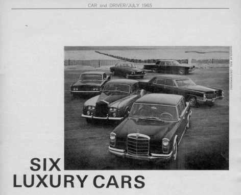 Vintage Review: Six Luxury Cars – A Car And Driver Comparison Test