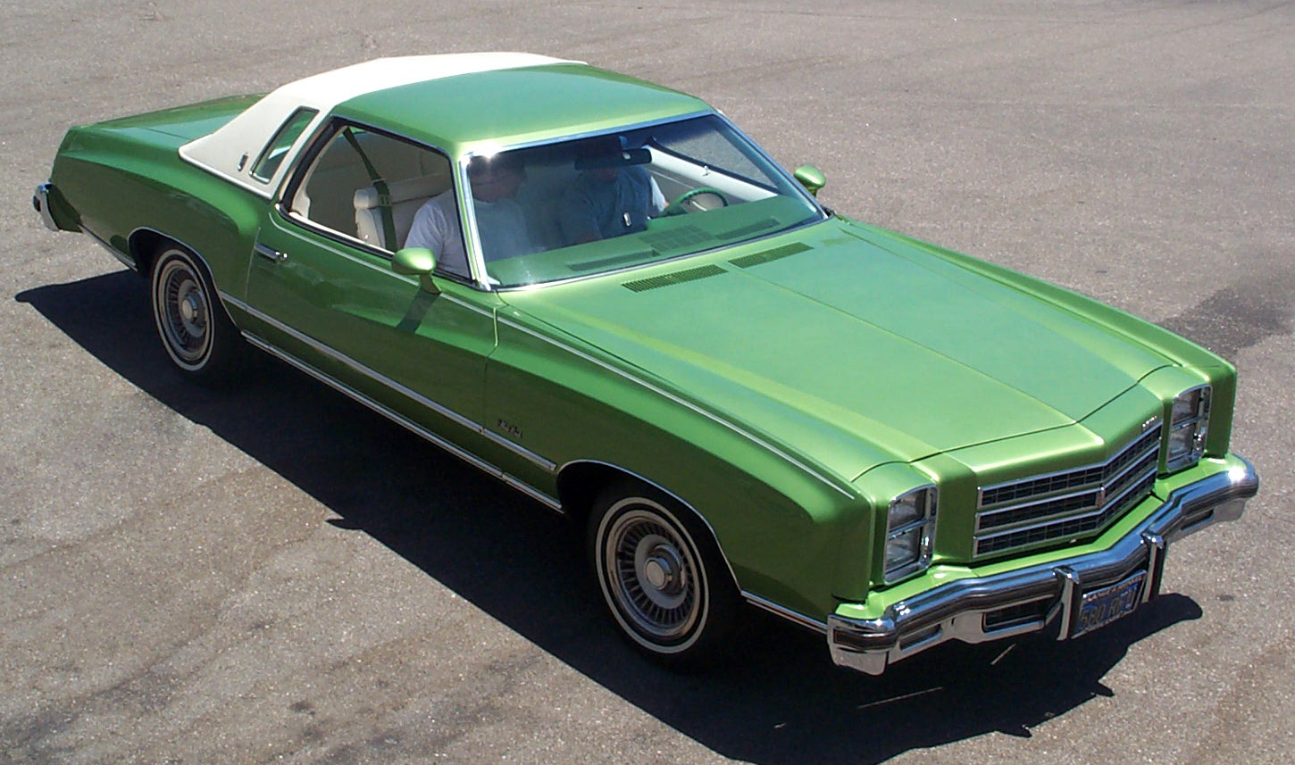 my curbside classic 1976 chevrolet monte carlo landau hope you like green. Black Bedroom Furniture Sets. Home Design Ideas