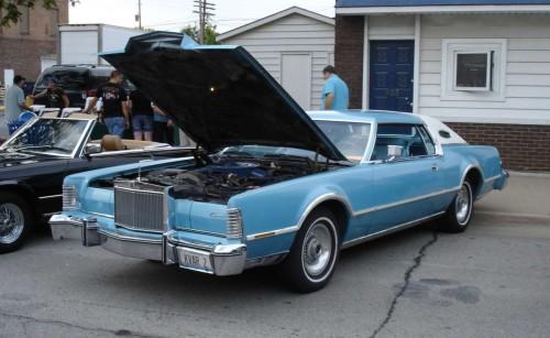 1970 s ERA Lincoln MARK IV Metal Emblem W Pins NICE SHAPE