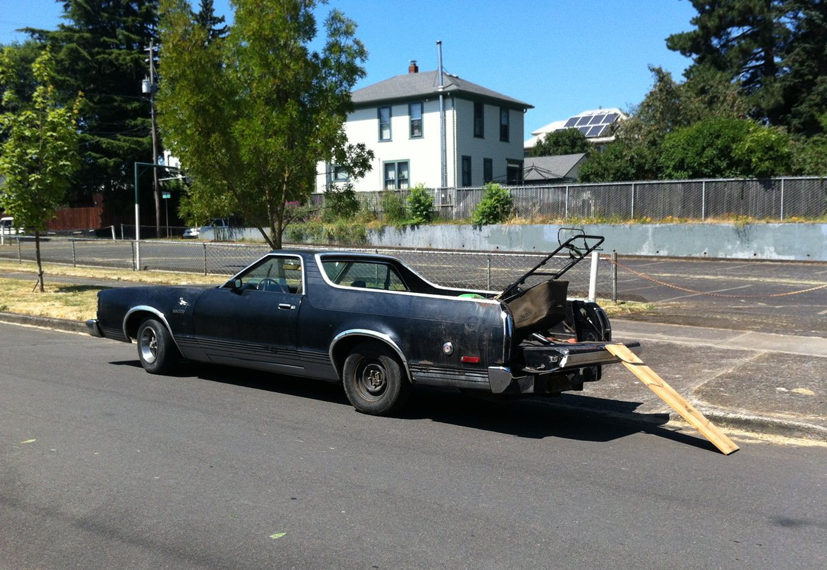 while visiting fellow ex ttacer edward this past wednesday in portland our walk to lunch conversation about life after ttac was interrupted by a lawnmower - 1979 Ford Ranchero