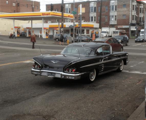 Chevrolet 1958 impala and Prius 2 big