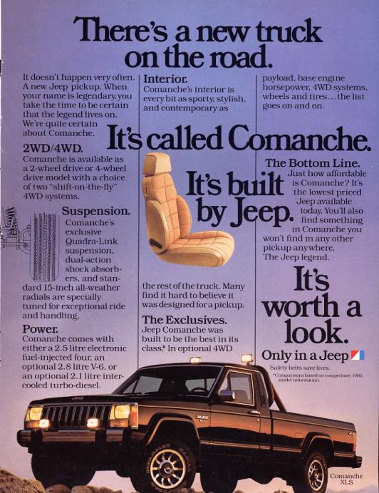 jeep comanche ad