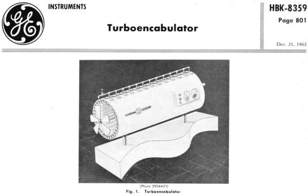 General Electric Turboencabulator 1962
