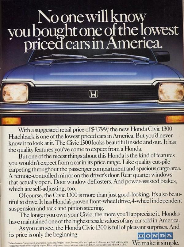 Terrific The First Car Of A Lifetime 1982 Honda Civic Long Gone But Wiring Cloud Pendufoxcilixyz