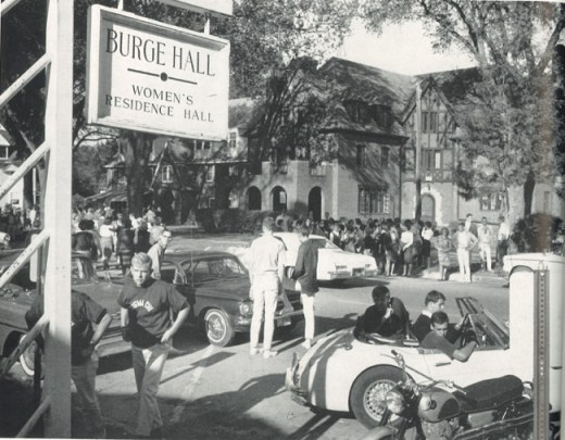 Iowa City 1964 -Hawkeye-22-res-hall-crowds