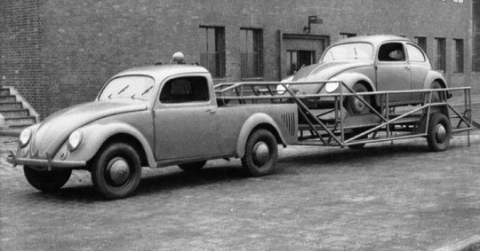VW Beetle 1946 Pickup f3q B&W